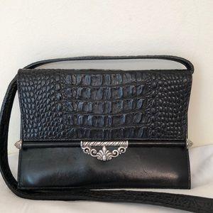 Brighton blk leather wallet purse combo crossbody